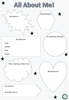 All About Me- Student Profile Printable