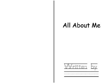 Free All About Me Student Writing Book