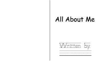 Free All About Me Student Writing Book - Bigger Size!