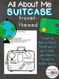 All About Me Suitcase Travel-Themed