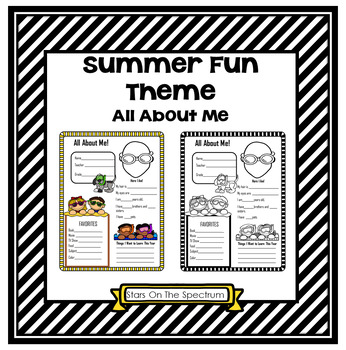 All About Me Summer Fun Theme