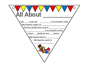 All About Me Super Kid Pennant