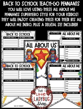 Superhero Theme- All About Me 3rd Grade, 4th Grade First Day of School Activity