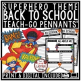 Superhero Theme- Back to School Activity 3rd Grade, 4th, a