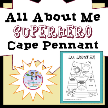 All About Me Superhero Cape Pennant