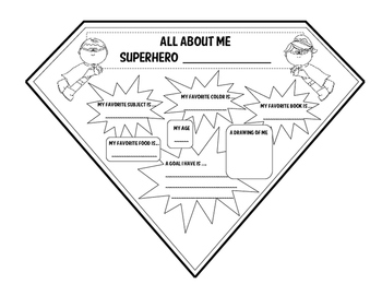 All About Me Superhero Pennant (Back to School Activity)