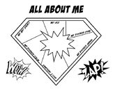 All About Me Superhero Shield