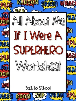 All About Me Superhero Worksheet