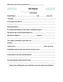 All About Me Survey