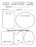All About Me Survey for Elementary Students