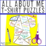 All About Me T Shirt EDITABLE Puzzles for Back To School o