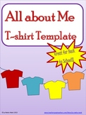 All  About Me T-shirt Template