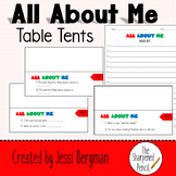 All About Me Table Tents- Back to School