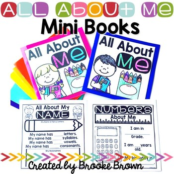 All About Me Target Mini Books {English and Spanish}