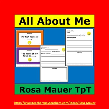 All About Me Task Cards