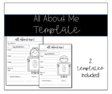 All About Me Template