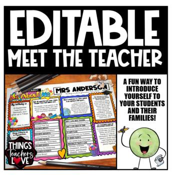 Meet The Teacher All About Me Template | Teacher Edition | Editable