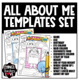 All About Me Templates, Girls and Boys Formats, Bundle Set