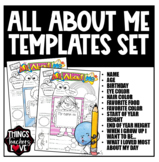 All About Me Templates Bundle, Girls + Boys Preschool, Kindergarten, Elementary