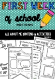 All About Me - The First Week of School Activities