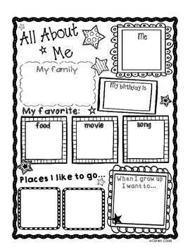 All About Me Printables for Back to School {Texas Twist Scribbles}