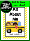 All About Me Printables for Back to School {Texas Twist Sc