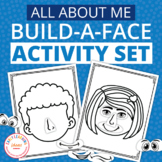 All About Me Theme Build A Face Activity and Play Dough Mats