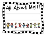 All About Me Theme Unit for Kindergarten, 1st Grade