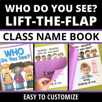 All About Me Theme Who Do You See Class Book