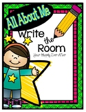 All About Me Themed Write the Room Bundle