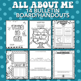 All About Me / This Is Me Bulletin Board Worksheets (14)