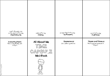 all about me time capsule mini book