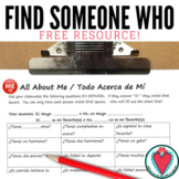 All About Me Spanish Speaking Activity - Beginning Spanish Games