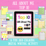 All About Me Top 10 Digital Resource