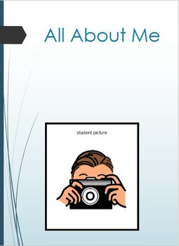 All About Me - Transition Book for Teachers of New Special Needs Student