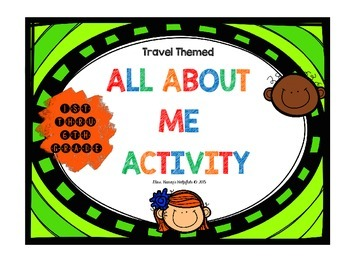 All About Me - Travel Themed Suitcase