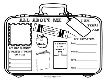 photo about All About Me Bag Printable called All In excess of Me - Drive Themed Suitcase