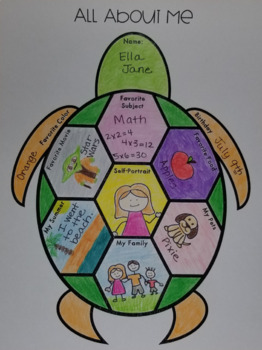 """All About Me"" Sea Turtle for Back to School"