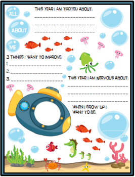 All About Me Under the Sea Theme