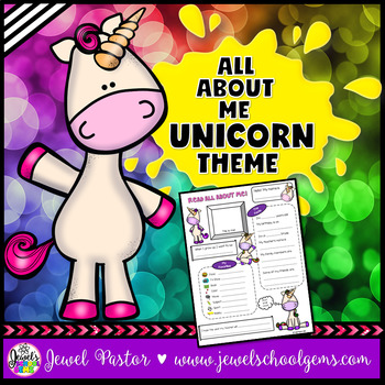 All About Me Unicorn Theme