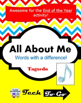 All About Me - Unique End of Year or Back to School Tagxedo Activity