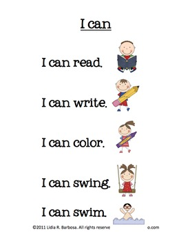 All About Me Unit- English