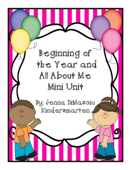 All About Me / Beginning of the Year Mini Unit
