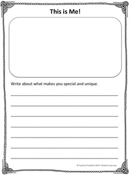 All About Me: Upper Elementary Writing Project- Common Core Aligned