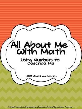 All About Me Using Math - A Back to School Activity