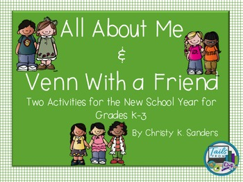 All About Me & Venn With a Friend-Back to School Year Activities for Grades K-3