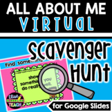 All About Me Virtual Scavenger Hunt   Back to School Remot