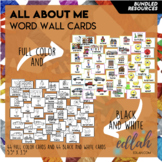 All About Me Vocabulary Word Wall Cards (set of 27) - BUNDLE