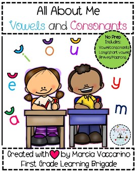 All About Me Vowels And Consonants