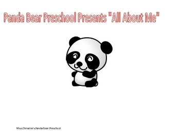 All About Me Weekly Lesson Plan